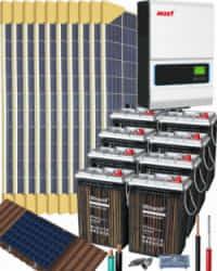 Kit Solar Vivienda Unifamiliar 5000W 48V 19200Whdia