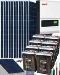 Kit Solar Vivienda Unifamiliar 5000W 48V 19800Wh-dia