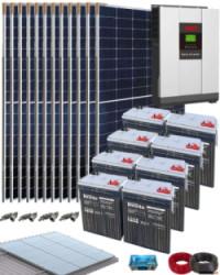 Kit Solar Vivienda Unifamiliar 5000W 48V 20000Wh-dia