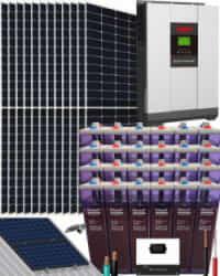 Kit Solar Vivienda Unifamiliar 5000W 48V 29700Whdia