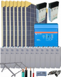 Kit Solar Vivienda Unifamiliar 8000W 24V 22400Whdia