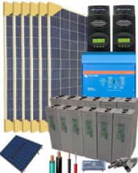 Kit Solar Vivienda Unifamiliar 8000W 24V 25600Whdia