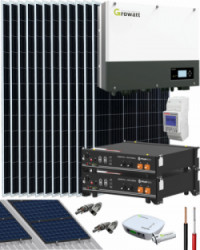 Kit Solar Híbrido 6000W 30000Whdia Growatt