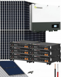 Kit Solar Híbrido 6000W 32000Whdia Growatt