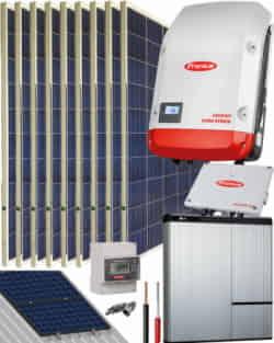 Kit Solar Híbrido Fronius 3000W 15400Whdia