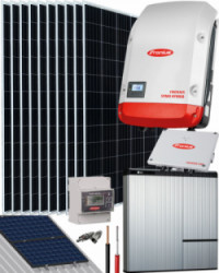Kit Solar Híbrido Fronius 4000W 19800Whdia