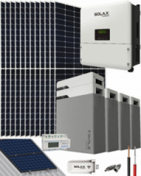 Kit Solar Litio 10000W SolaX Hybrid Trifásico 49500Whdia