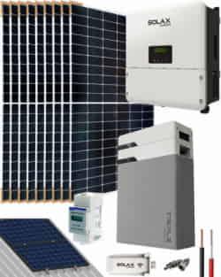 Kit Solar Litio 3000W SolaX Hybrid Monofásico 16500Whdia