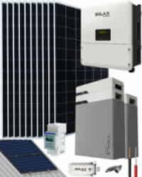 Kit Solar Litio 3700W SolaX Hybrid Monofásico 19800Whdia