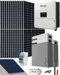 Kit Solar Litio 5000W SolaX Hybrid Monofásico 26400Whdia