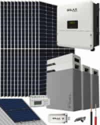 Kit Solar Litio 8000W SolaX Hybrid Trifásico 39600Whdia
