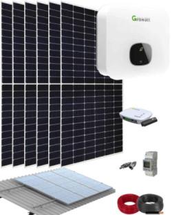 Kit Solar Residencial 2500W 12500Whdia Growatt