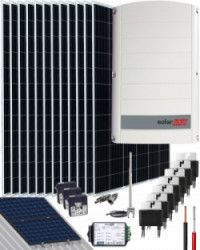 Kit Solar Trifásico 6000W SolarEdge 30000Whdia