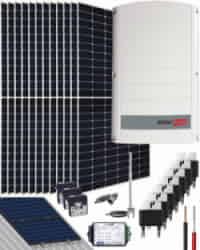 Kit Solar Trifásico 7000W SolarEdge 35000Whdia
