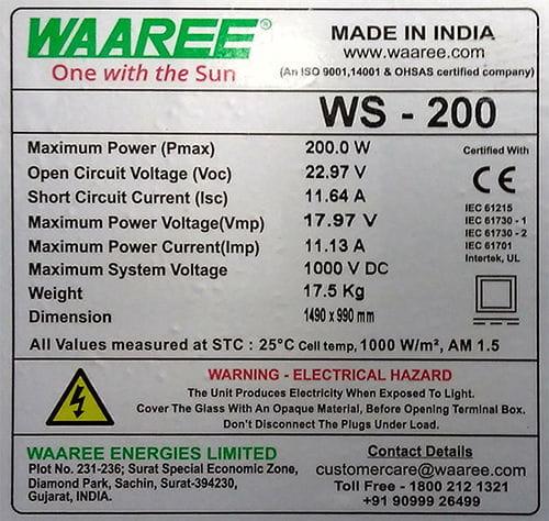 Entender Ficha Tecnica Panel Solar
