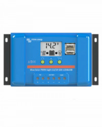 Regulador PWM Blue Solar 12/24V 20A LCD USB Victron