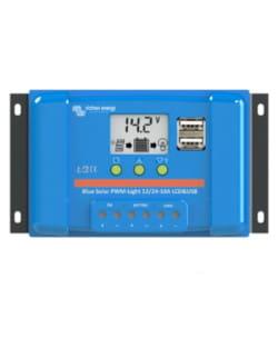 Regulador PWM BlueSolar 12/24V 10A LCD USB Victron