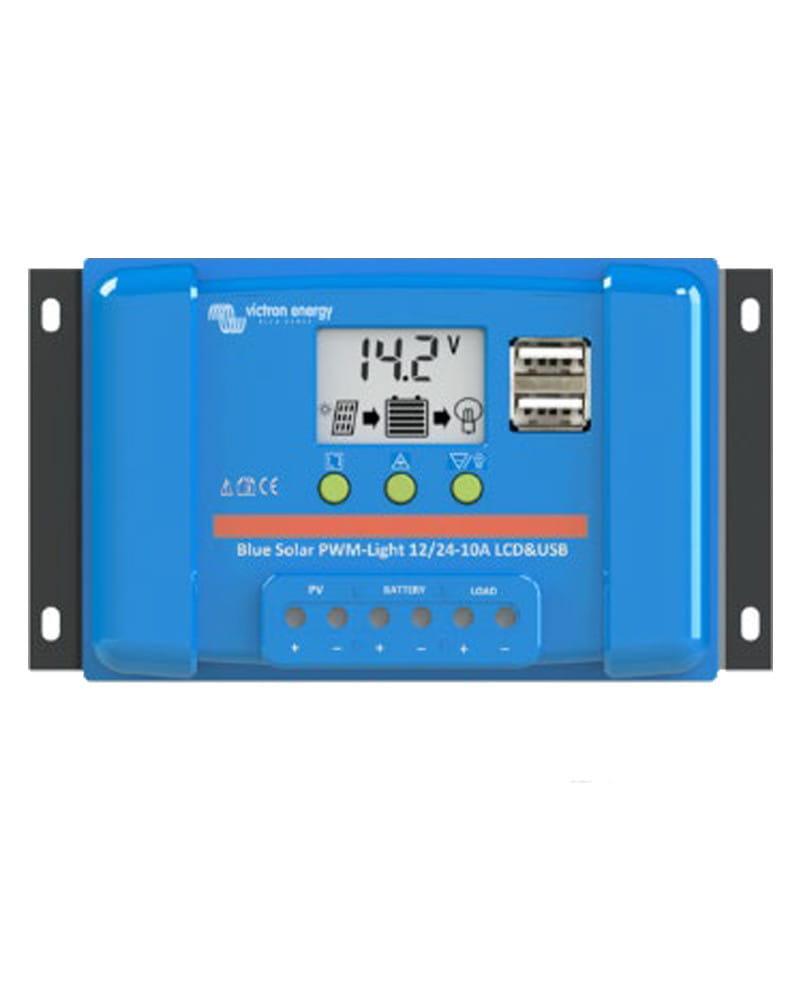Regulador PWM BlueSolar 12/24V 5A LCD USB Victron
